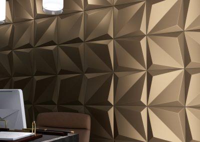 detalle origami bronzo